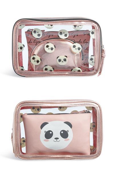 Clear Panda 3 In 1 Toiletries Bag