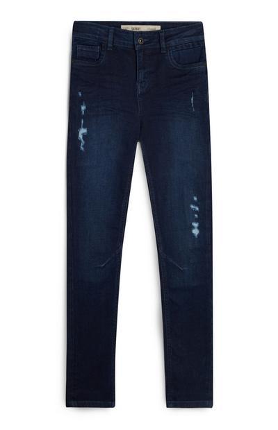 Older Boy Ripped Indigo Jeans
