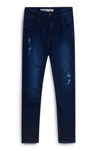 Jeans indaco con strappi da ragazzo