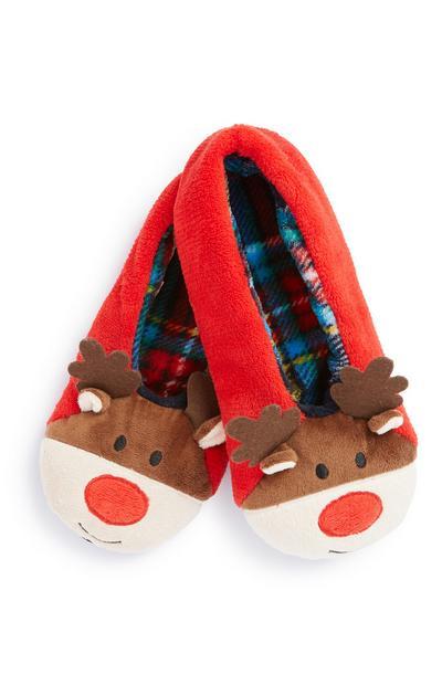 Zapatillas de estar por casa de reno