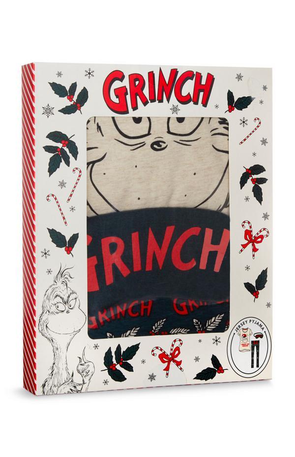 Grinch Jersey Knit Pajama Gift Box