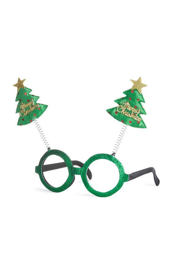 Óculos fantasia árvore Natal