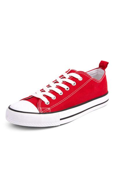 Red Classic Canvas Trainers