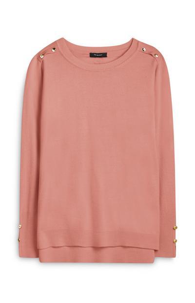 Camisola super macia rosa-pálido