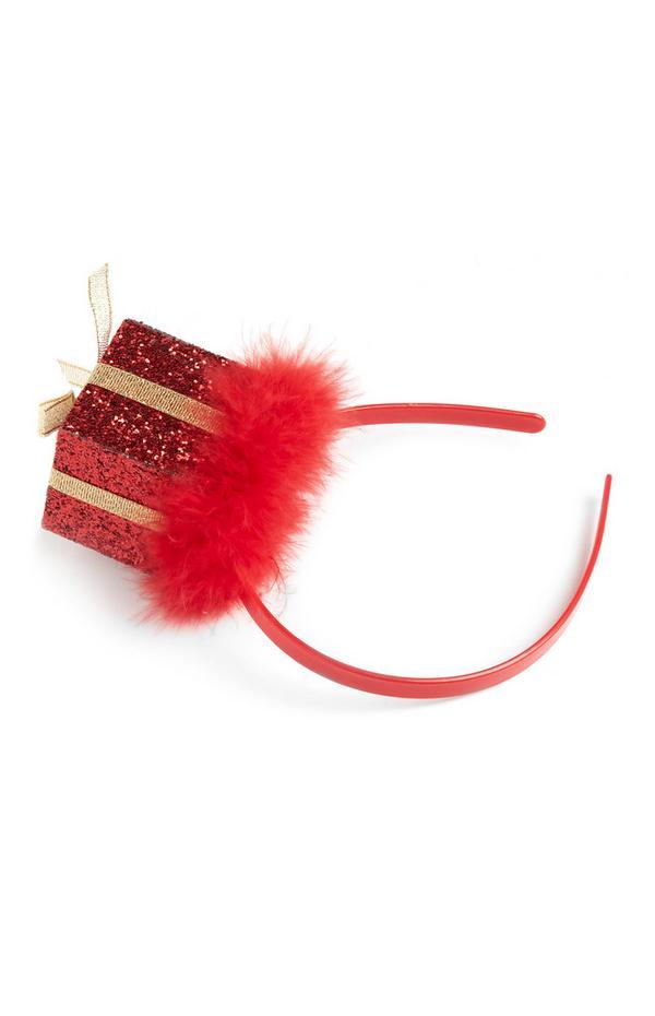 Diadema con regalo navideño