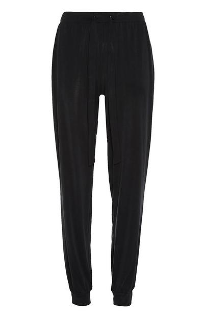 Zwarte modal pyjama in joggingbroekstijl
