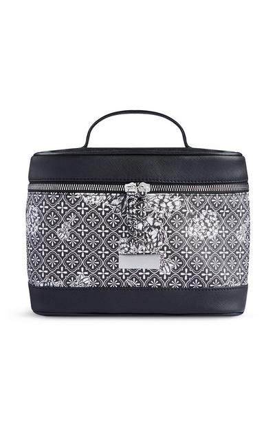 Black Print Makeup Bag