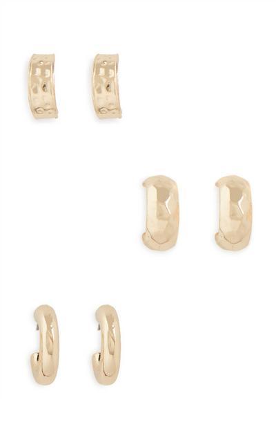 Obročasti uhani, 3 pari