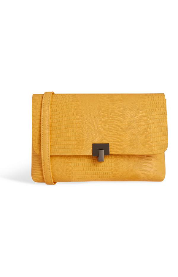 Mustard Croc Bag