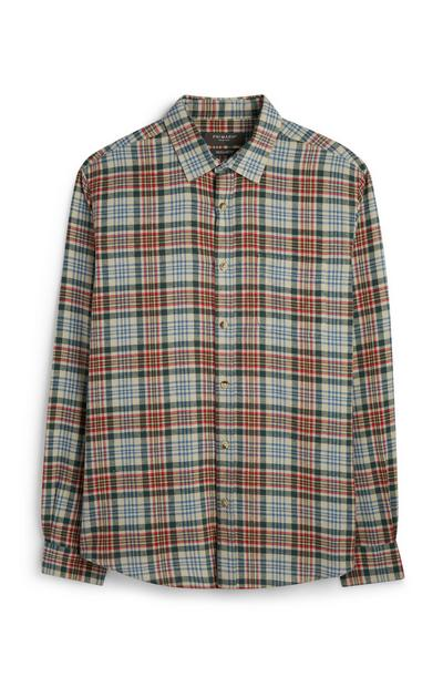 Light Gray Checked Shirt