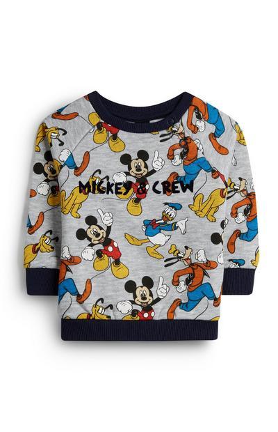 Baby Boy Grey Mickey And Crew Jumper