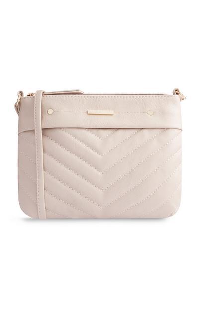 Cream Stitch Cross Body Bag