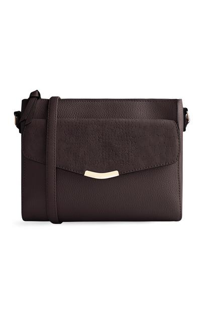 Brown Front Pocket Cross Body Bag