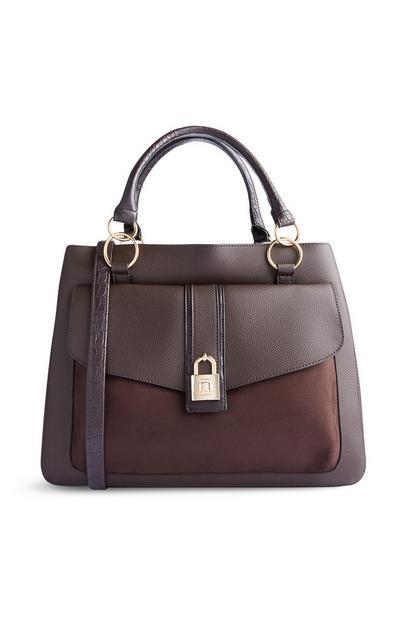 Rjava torbica s ključavnico
