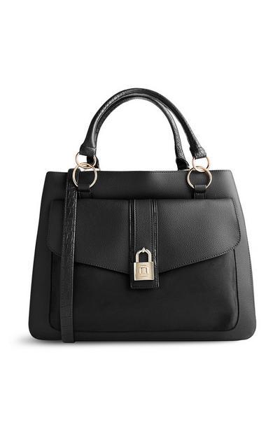 Črna torbica s ključavnico