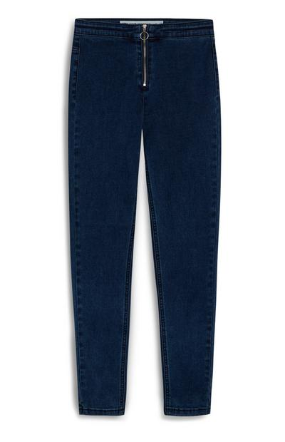Indigoblaue High-Waist-Skinny-Jeans (Teeny Girls)
