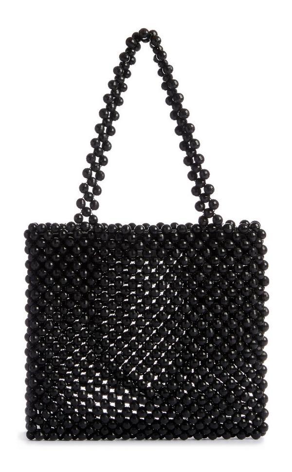Black Beaded Handbag