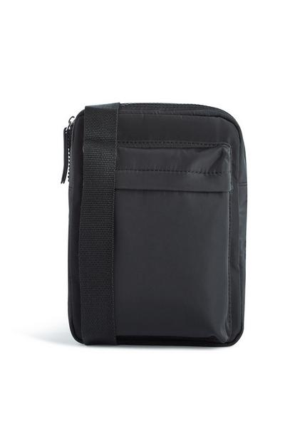 Black Nylon Messenger Bag