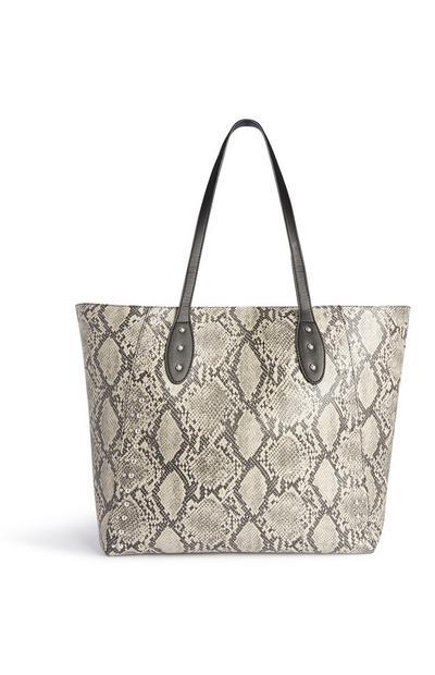Tasche mit Schlangen-Print