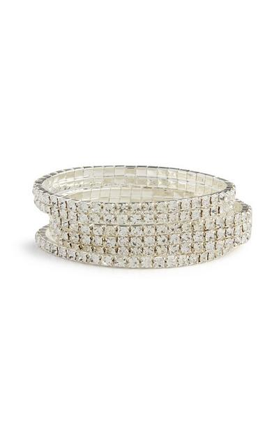 3-Pack Rhinestone Bracelets