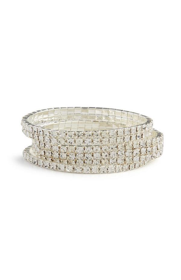 Armbanden met stras, set van 3