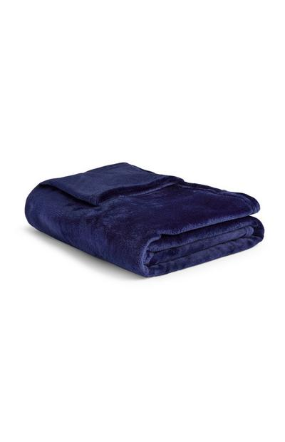 Navy Super-soft Small Throw