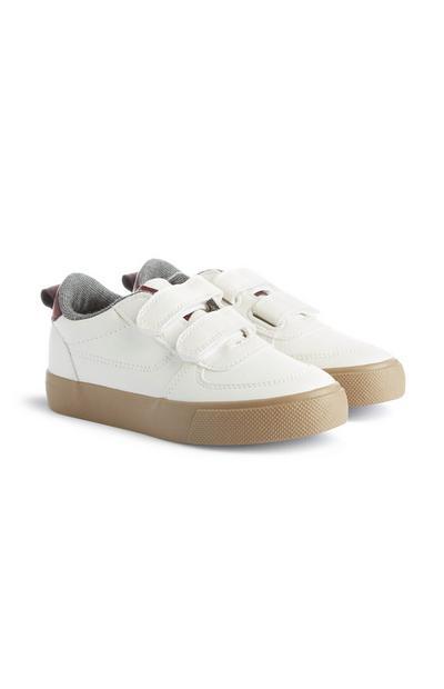 Witte sportschoenen met klittenband