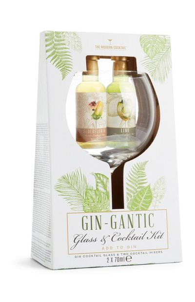 Large Gin Glass With Syrups