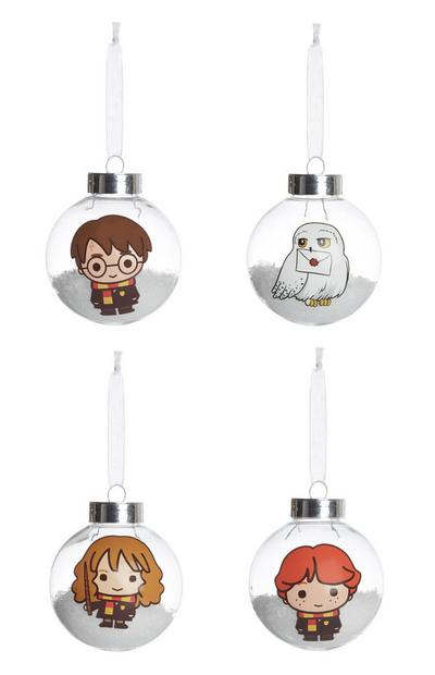 Harry Potter Baubles 4Pk