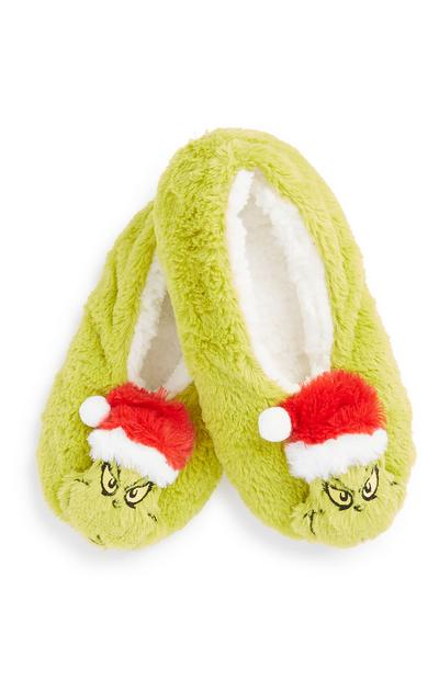 Grinch Slipper Socks