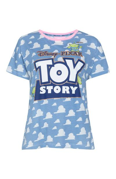 Blue Toy Story Cloud Print T-Shirt