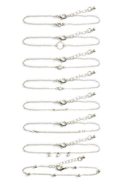 Verschillende armbandjes, set van 8