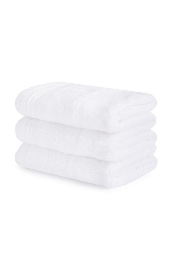 3-Pack White Face Towels