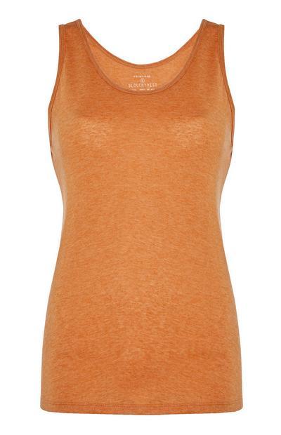 Oranje gemêleerd slobberhemd