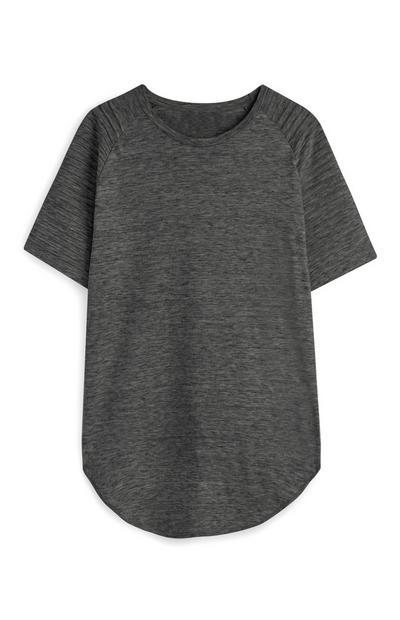 T-shirt met raglanmouwen, donkergrijs
