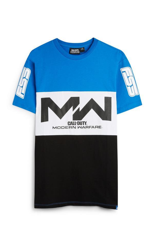"""Blau-schwarzes """"Call Of Duty Modern Warfare"""" T-Shirt"""