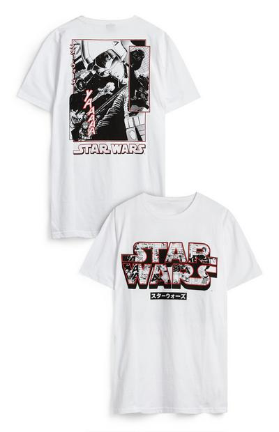 T-shirt fotografia elenco The Rise Of Skywalker Star Wars branco