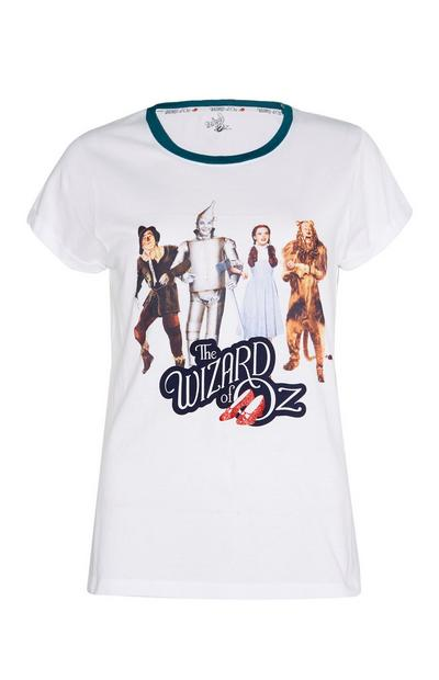 Wit T-shirt met The Wizard of Oz-personages