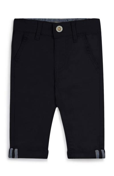 Baby Boy Navy Stretch Twill Trousers