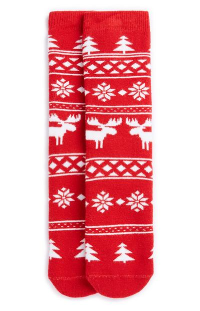 Calcetines zapatilla navideños