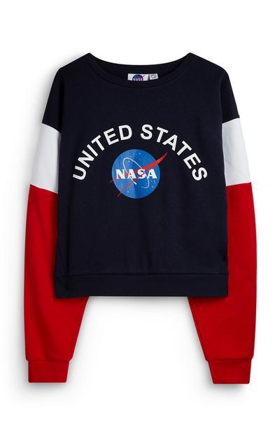 United States NASA Red, White And Blue Sweatshirt