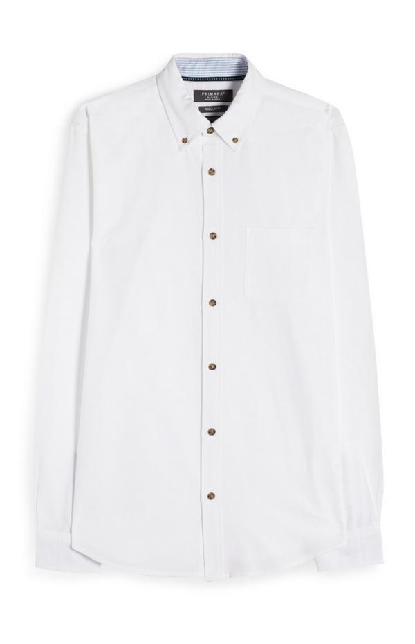 Camisa Oxford blanca de primera calidad
