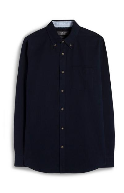 Marineblaues Premium Oxford-Hemd