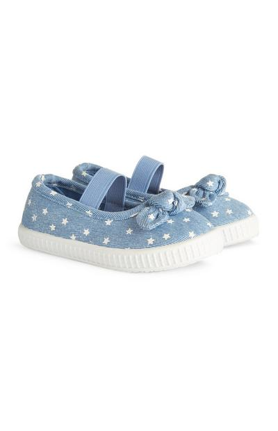 Čevlji iz džinsa z zvezdicami za deklice