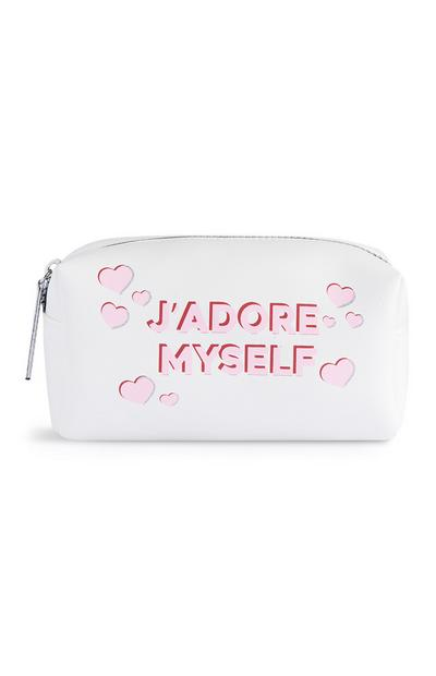 """Jadore Myself"" transparente Make-up-Tasche"