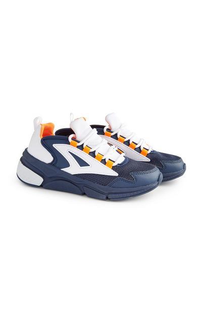 Baskets bleu marine compensées ado