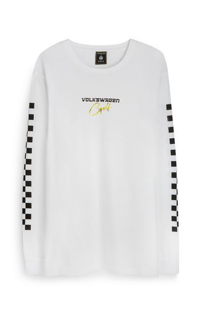 Pull blanc à motif damier Volkswagen Golf