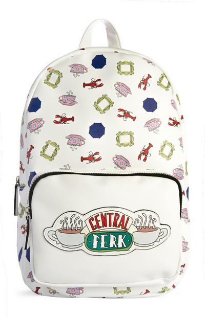 White Central Perk Backpack