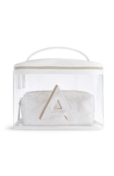 Letter A Clear Make-Up Bag
