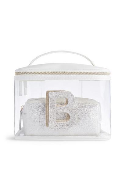 Letter B Clear Make-Up Bag